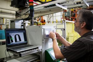 Camera vision system used to assure process control